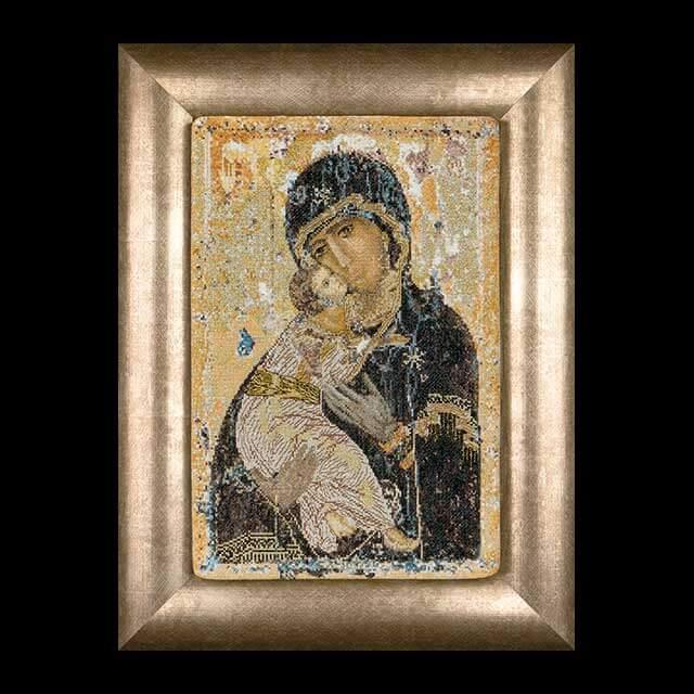"""Nieuw borduurpakket van thea gouverneur in de iconen serie; """"our lady of vladimir"""" of onze lieve ..."""