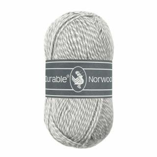 Durable Norwool lichtgrijs melee M016