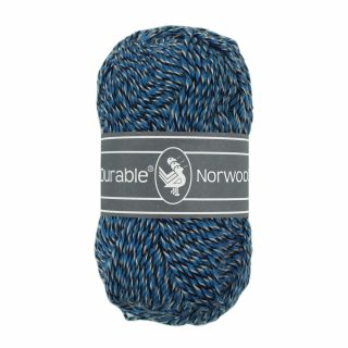 Durable Norwool blauw melee M235