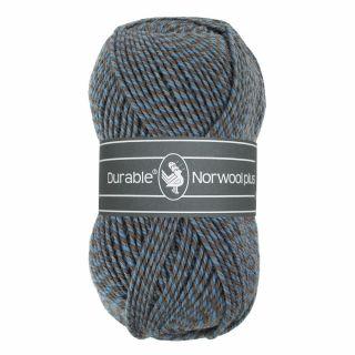 Durable Norwool Plus blauw grijs melee M235