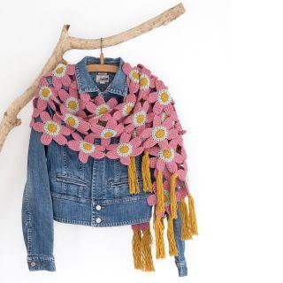 Haakpakket Tunesian Flower shawl - 225 - Durable