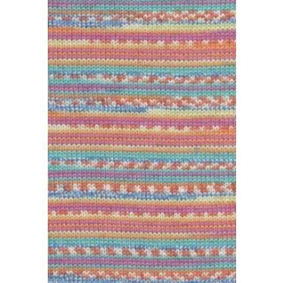 MERINO 200 BEBE COLOR mint/orange/blauw jacquard
