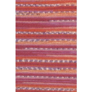 MERINO 200 BEBE COLOR rood/orange/paars jacquard