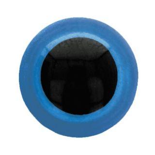 Veiligheidsoogjes 8 mm blauw - per 5 paar