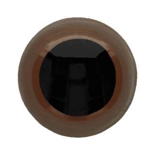 Veiligheidsoogjes 15 mm bruin - per 2 stuks