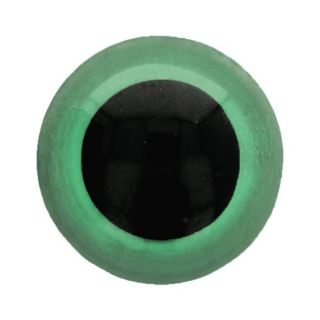 Veiligheidsoogjes 10 mm groen - per 2 stuks