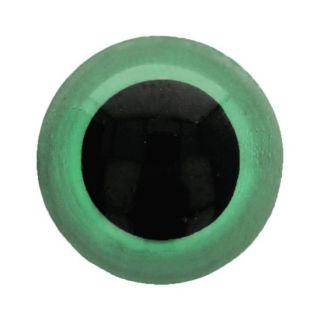 Veiligheidsoogjes 15 mm groen - per 2 stuks