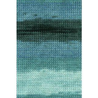 MERINO+ COLOR blauw/groen/antraciet