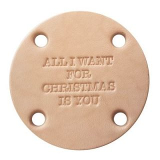Label rond All I want for Christmas is you - leer 45 mm