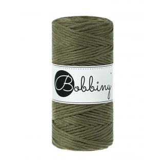 Bobbiny Macrame Triple Twist 3 mm - Avocado