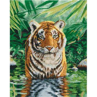Borduurpakket Tiger pool - DMC