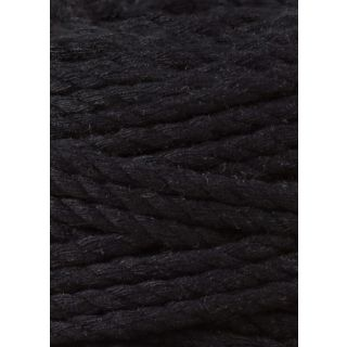 Bobbiny Macrame Triple Twist 5 mm - Black