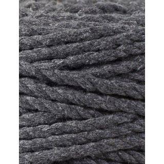 Bobbiny Macrame Triple Twist 5 mm - Charcoal