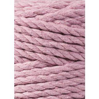 Bobbiny Macrame Triple Twist 5 mm - Dusty Pink