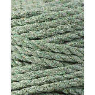 Bobbiny Macrame Triple Twist 5 mm - Eucalyptus Green
