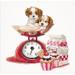 Borduurpakket Cupcake puppy - Thea Gouverneur