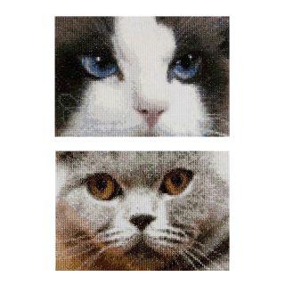 Borduurpakket Katten Smokey en Blu  - Thea Gouverneur