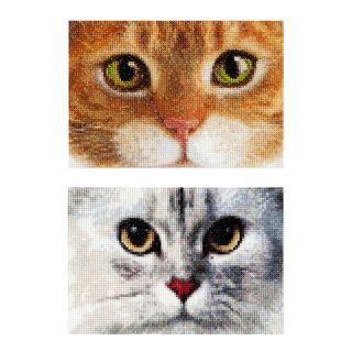 Borduurpakket Katten Tiger en Kitty  - Thea Gouverneur