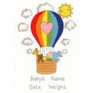 Borduurpakket Balloon Baby geboortetegel - Bothy Threads
