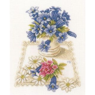 Borduurpakket Blauwe klokjes - Marjolein Bastin (Lanarte)
