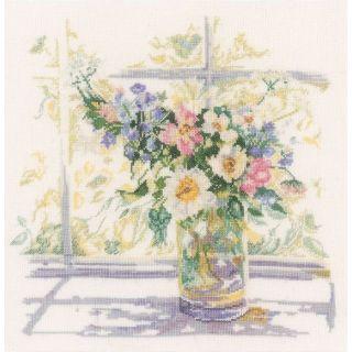 Borduurpakket Bloemen in zonlicht - Lanarte