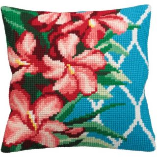 Kussen borduurpakket Hibiscus - Collection d'Art