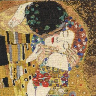 Borduurpakket The Kiss van Gustav Klimt - DMC