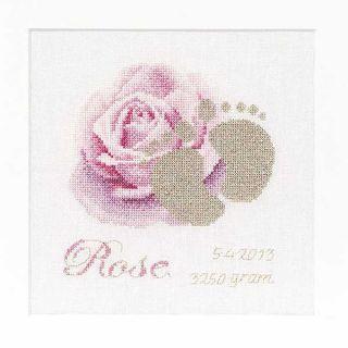 Borduurpakket Geboortetegel Rose Aida - Thea Gouverneur