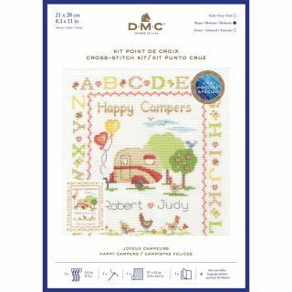 Borduurpakket Happy Campers - DMC