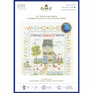 Borduurpakket Home Sweet Home - DMC