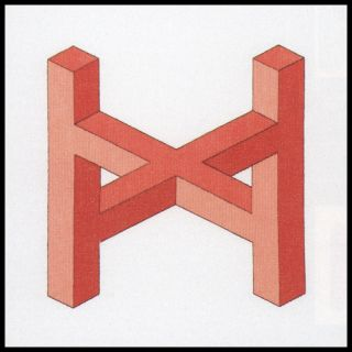 Borduurpakket Impossible Figure Red - Permin