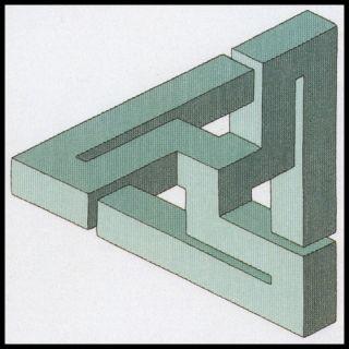 Borduurpakket Impossible Figure green - Permin