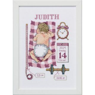 Borduurpakket Judith geboortetegel - Permin