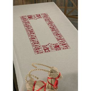 Tafelkleed Christmas Spirit borduurpakket - Permin