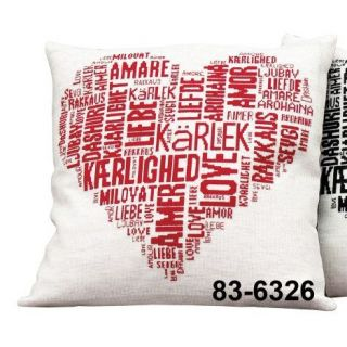 Borduurpakket Love Red kussen - Permin