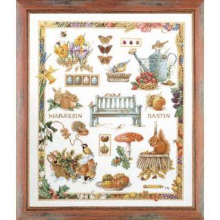 Borduurpakket Collage Vier jaargetijden - Marjolein Bastin (Lanarte)