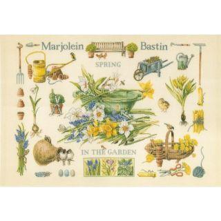 Borduurpakket Lente in de tuin - Marjolein Bastin (Lanarte)