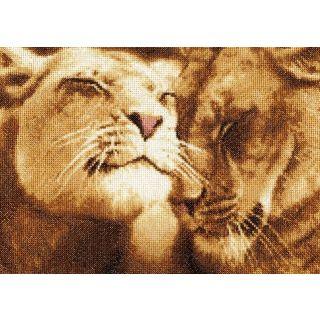 Borduurpakket Lions in Love - Golden Fleece Ltd