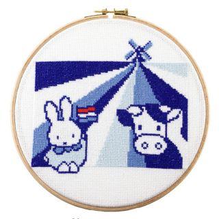 Borduurpakket Nijntje met koe en molen - Pako