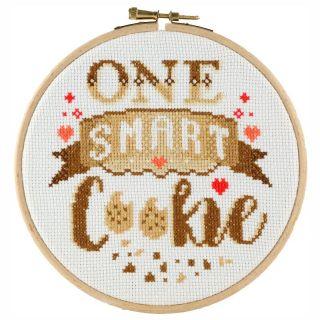 Borduurpakket One smart cookie - Stitchonomy