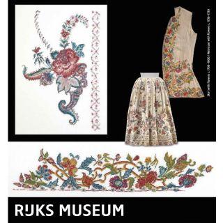 Borduurpakket Rijksmuseum Catwalk Skirt with flowers - Waistcoat with flowers
