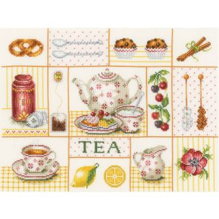 Borduurpakket Tea party - Lanarte