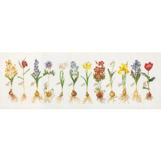 Borduurpakket Voorjaarsbloemen Aida - Thea Gouverneur