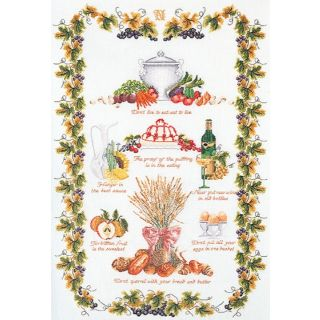 Borduurpakket Culinaire Merklap Linnen - Thea Gouverneur