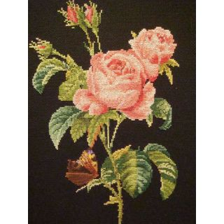 Borduurpakket Roos Redoute Black Collection - Thea Gouverneur