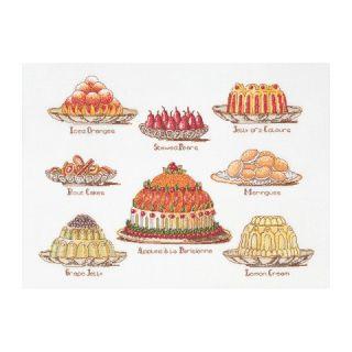 Borduurpakket Taarten (Sweet Dishes) Aida - Thea Gouverneur