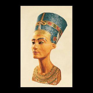 Borduurpakket Nefertiti (white) Linnen - Thea Gouverneur