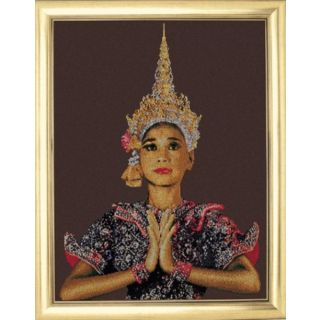 Borduurpakket Thaise Dame (Thai Lady - brown) - Thea Gouverneur