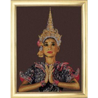 Borduurpakket Thaise Dame (Thai Lady - brown) - Thea Gouverneur