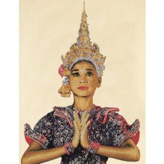 Borduurpakket Thaise Dame Linnen - Thea Gouverneur